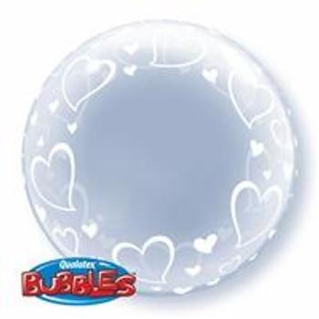 """24""""Q Deco Bubble, Hearts"""