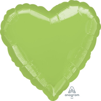 "18""A Heart, Lime Green (10 count)"