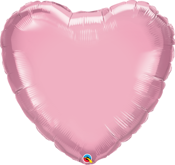 "36""Q Heart Pearl Pink (5 count)"