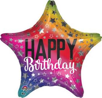 "18""A Happy Birthday Rainbow (5 count)"