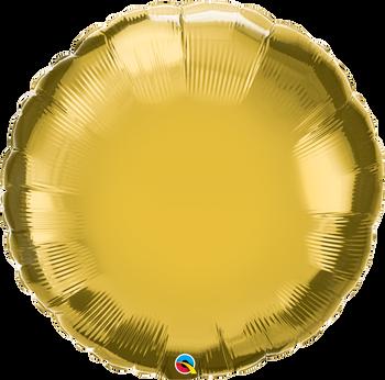 """36""""Q Round Mylar Gold (5 count)"""