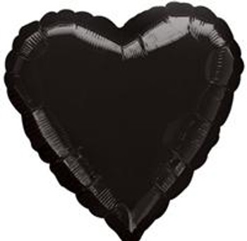 "4""A Heart, Black (10 count)"