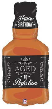 """34""""B Aged to Perfection Whiskey Bottle (1 count)"""
