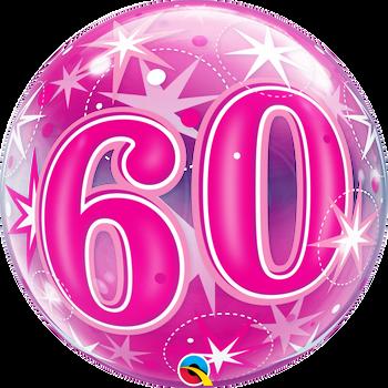 "22""Q Bubble Pink Starburst #60(1 count)"
