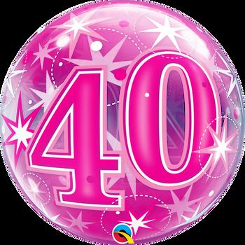 "22""Q Bubble Pink Starburst #40(1 count)"