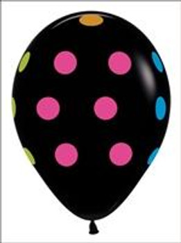 "11""B Neon, Dots Black Print (50 count)"