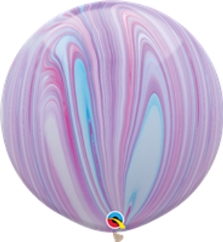 "30""Q Agate, Fashion Rainbow (2 count)"