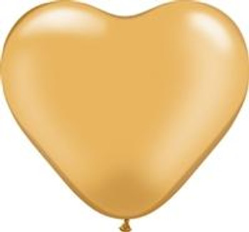 "6""Q Heart, Gold (100 count)"