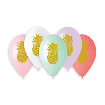 """13""""G Gold Pineapple Assorted Print"""
