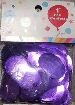 """Confetti Circles, Mylar Purple 1""""(1 count)"""