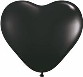 "6""Q Heart Onyx Black (100 count)"