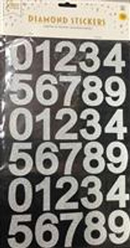 Stickers, Numbers Silver(1 count)