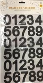 Stickers, Numbers Black(1 count)