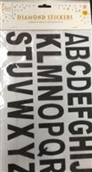Stickers, Letters Black (1 count)