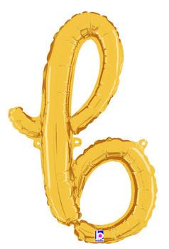 Script Gold Letter B (1 count)