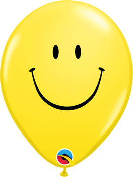 """5""""Q Smile Face Yellow Print (100 count)"""