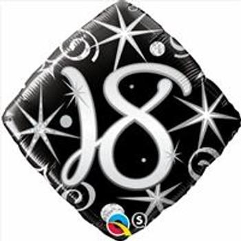 "18""Q Happy Birthday Elegant Sparkles & Swirls 18(5 count)"