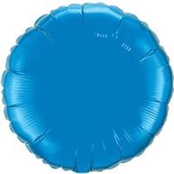 "4""Q Circle/ Round Sapphire Blue (10 count)"