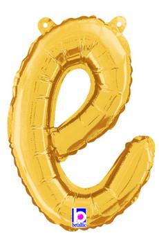 Script Gold Letter E (1 count)