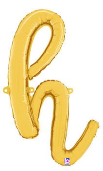 Script Gold Letter  H (1 count)