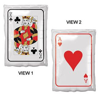 "17""A Playing Card King of Club / Ace of Hearts Roll The Dice (5 count)"