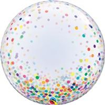 "24""Q Deco Bubble, Confetti Dots All Around Multi (1 count)"