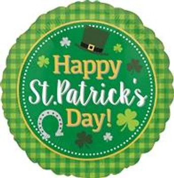 "18""A Happy St. Patrick's Day, Plaid"