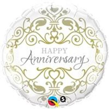 "18""Q Happy Anniversary, Classic (5 count)"