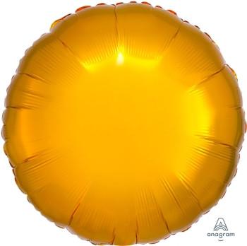 "18""A Circle/ Round, Gold Metallic Mylar(10 count)"