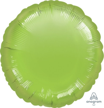 "18""A Circle/ Round, Lime Green Mylar(10 count)"