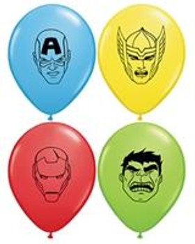 "5""Q Assorted, Avengers Faces Print (100 count)"