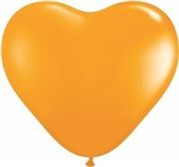 "6""Q Heart Orange (100 count)"