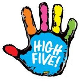 "40""B High Five Hand(1 count)"