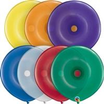 "16""Q Geo Donut, Assorted Jewel(50 count)"