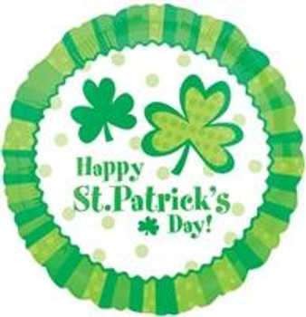 """18""""A Happy St. Patrick's Day, Lucky Wishes"""