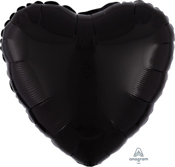 "18""A Heart, Black (10 count)"