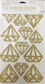Stickers, Diamond Gold(1 count)