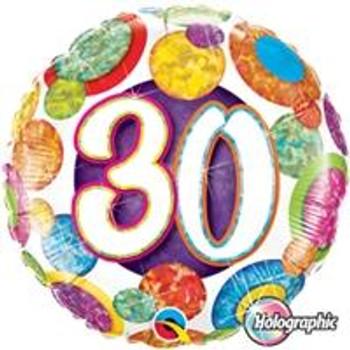 """18""""Q Big Dots & Glitz, #30"""
