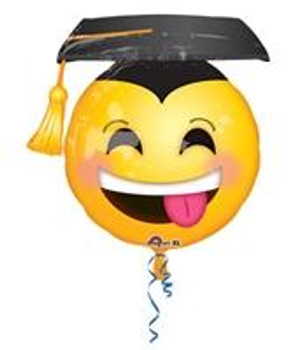 "26""A Grad, Smile Face with Cap Awesome (5 count)"