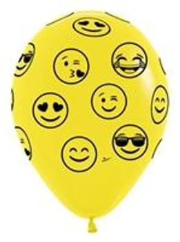 "11""B Emoji, Yellow with Black print (50 count)"