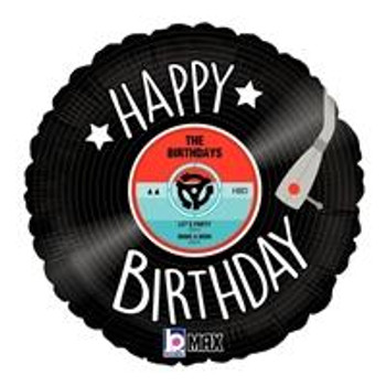 "18""B Happy Birthday Record (5 count)"
