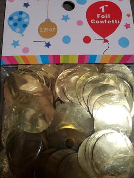 "Confetti Circles , Mylar Gold 1""(1 count)"