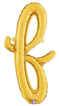 Script Gold Letter F (1 count)