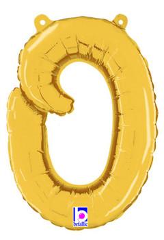 Script Gold Letter O Pkg (1 count)