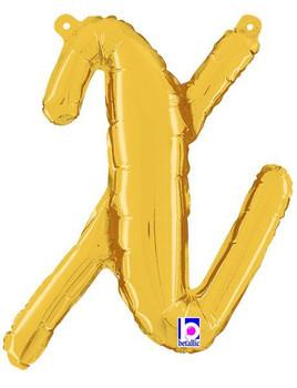 Script Gold Letter X (1 count)