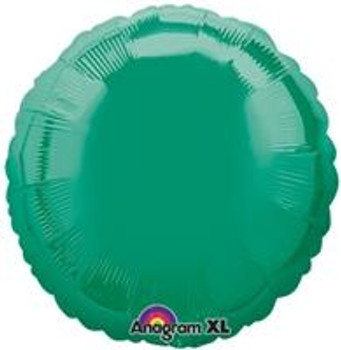 "18""A Circle/ Round, Green Emerald Mylar(10 count)"