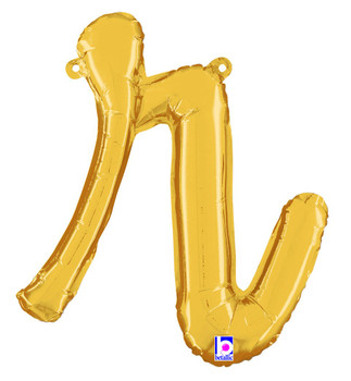 Script Gold Letter R (1 count)