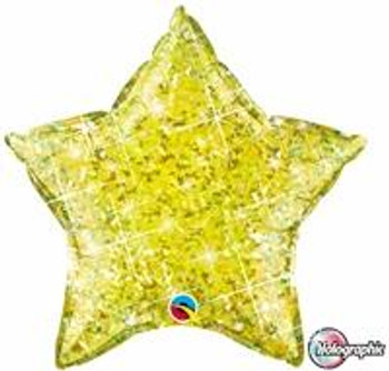 """20""""Q Star Holographic Yellow(10 count)"""