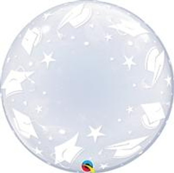 "24""Q Deco Bubble, Graduation Cap(1 count)"