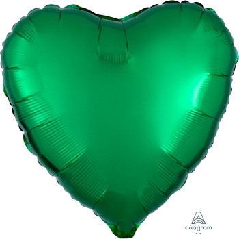 "18""A Heart, Green(10 count)"